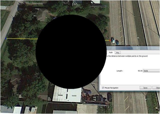 Billboard Distance B - UFO estimate